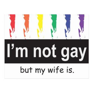 Postal gay de la esposa