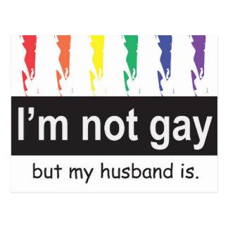 Postal gay del marido