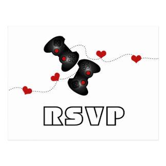 Postal Geeky de RSVP de los videojugadores (oscura