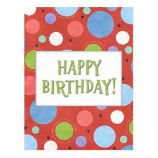 Postal genérica anaranjada del cumpleaños del verd