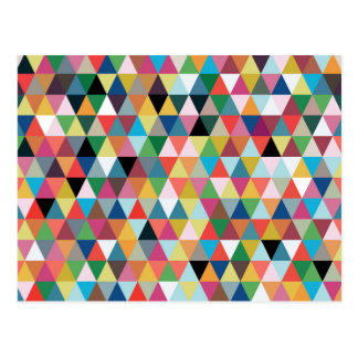Postal geométrica colorida del modelo del