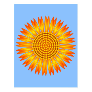Postal geométrica del girasol