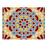 Postal geométrica islámica de los modelos