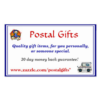 Postal Gifts Business Card