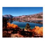 Postal gigantesca de California de los lagos lake