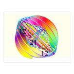 Postal giroscópica del mundo del arco iris