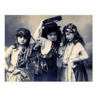 Postal gitana de los niños del Victorian