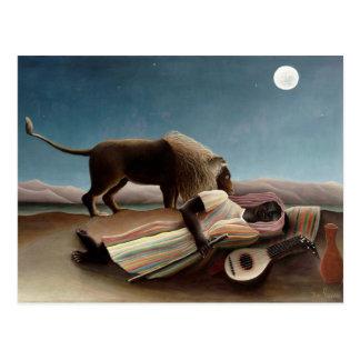 Postal gitana el dormir de Rousseau