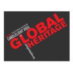 Postal global de la herencia (negro)