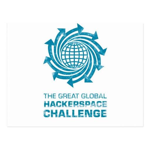 Postal global del desafío de Hackerspace