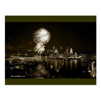 "Postal GoldenTriangle ""uno de Pittsburgh de un bue"