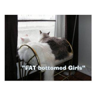 Postal gorda de los chicas del extremo