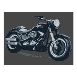 Postal gorda del muchacho de Harley Davidson