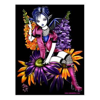 Postal gótica de la fantasía del Faerie de la flor