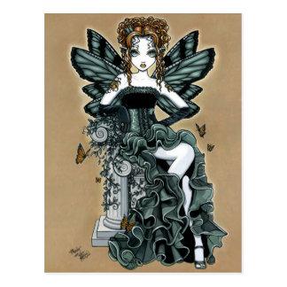 Postal gótica de la hada de la mariposa de las cos