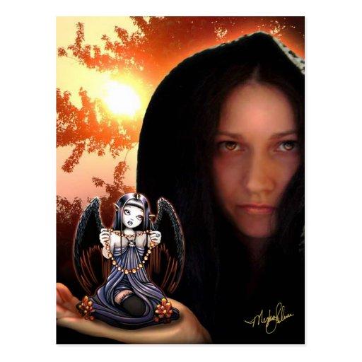 Postal gótica del ángel del arte de Myka Jelina