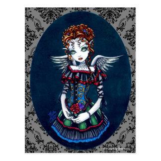 Postal gótica del ángel del Victorian de Annabelle