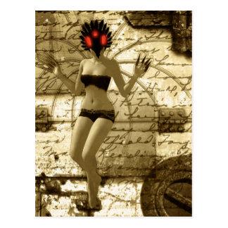 Postal gótica del arte del arte surrealista de