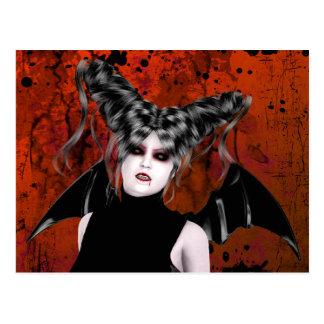 Postal gótica del arte del vampiro de la rabia