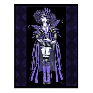 Postal gótica púrpura de la hada de las costuras d