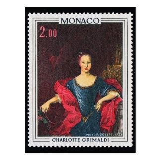 Postal grabada vintage del sello