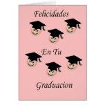 Postal Graduacion femenina Greeting Card