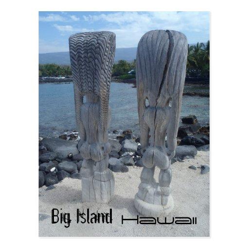 Postal grande de Hawaii de la isla de las partes t