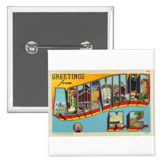 Postal grande de la letra de Asheville del kitsch  Pin