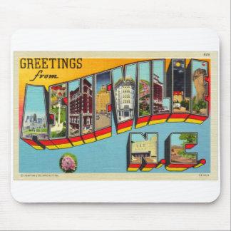 Postal grande de la letra de Asheville del kitsch  Alfombrillas De Raton