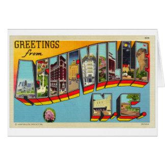 Postal grande de la letra de Asheville del kitsch  Tarjeta