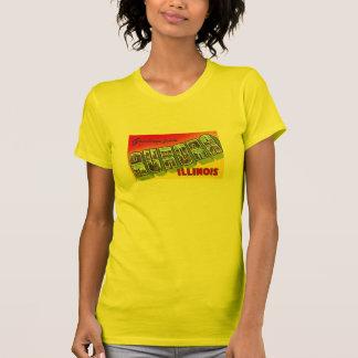POSTAL GRANDE de la LETRA de Illinois IL de la Camisetas