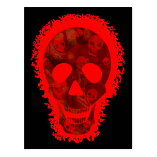 Postal grande del rojo del cráneo de los espectros