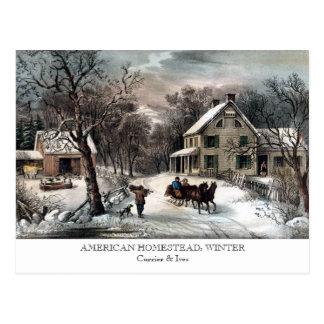 Postal - GRANJA AMERICANA: Invierno
