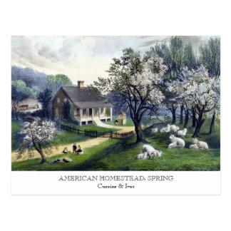 Postal - GRANJA AMERICANA: Primavera