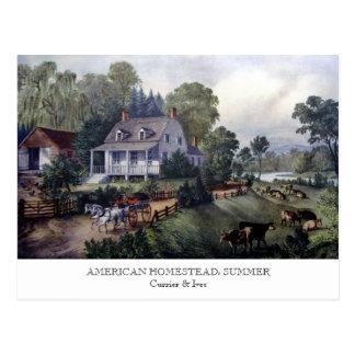 Postal - GRANJA AMERICANA: Verano