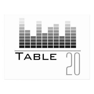Postal gris del número de la tabla del analizador