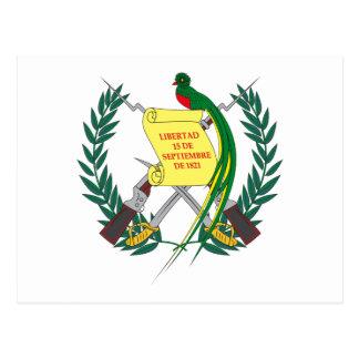 Postal guatemalteca del escudo de armas