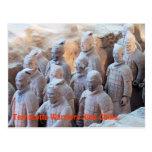 POSTAL - guerreros Xián China de la terracota