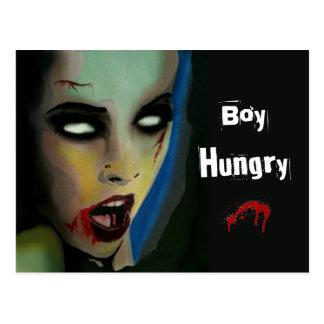 "Postal hambrienta del ""muchacho"" (zombi)"