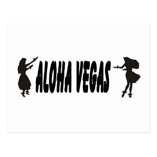 Postal hawaiana de los chicas de Vegas de la hawai