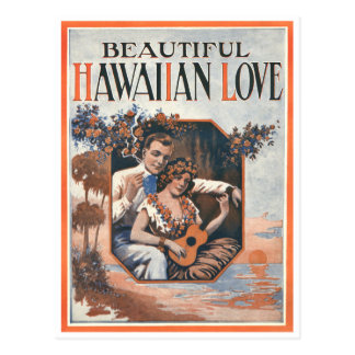 Postal hawaiana del amor