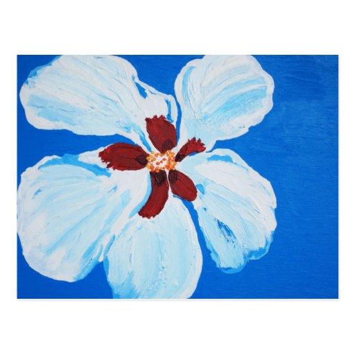 Postal hawaiana del hibisco