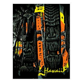 Postal hawaiana del personalizado de las estatuas