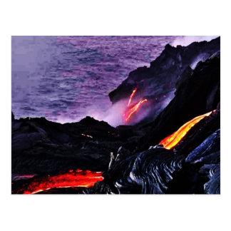 Postal hawaiana del volcán