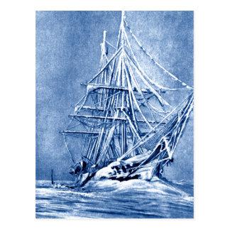 Postal helada de la nave