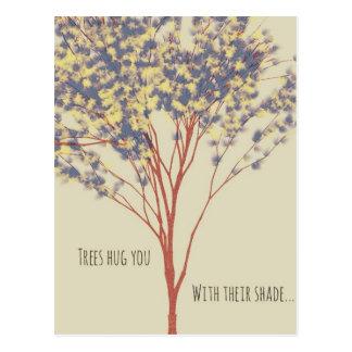 Postal hermosa de la cita del arte del árbol