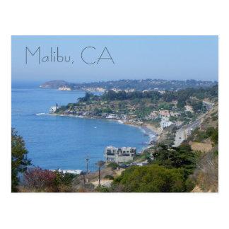 ¡Postal hermosa de la costa de Malibu! Postal