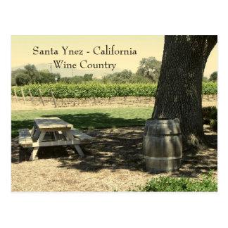 ¡Postal hermosa de Santa Ynez/del país vinícola!