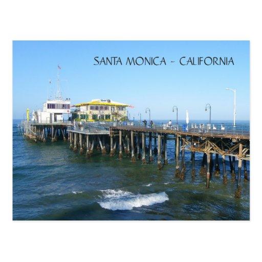 ¡Postal hermosa del embarcadero de Santa Mónica! Tarjeta Postal