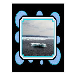 Postal hermosa del iceberg